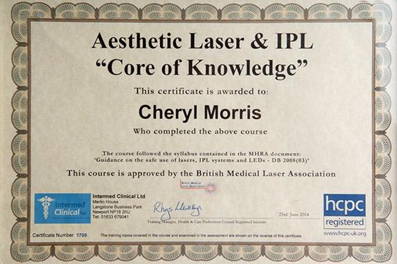 laser-tattoo-removal-cheryl-morris-certificate