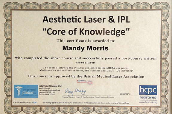 laser-tattoo-removal-mandy-morris-certificate